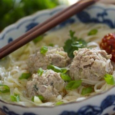 Chicken Ball Noodle Soup