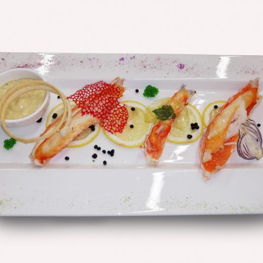 Фаланги камчатского краба с соусом супериор