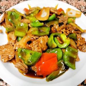 63. Fried Beef or Pork & Green Pepper