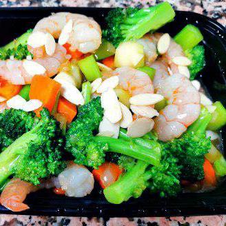 57. Diced Shrimps, Almonds & Vegetables