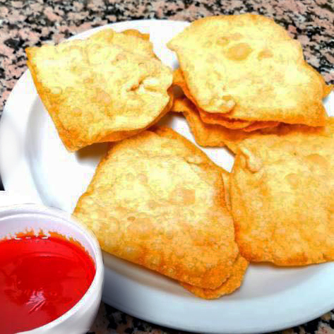4. Dry Wonton Wrappers with Sweet & Sour Sauce