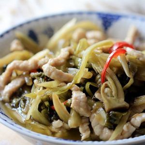 Pickled Vegetables and Pork Noodles