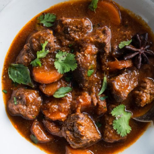 Stewed Beef with Cilantro