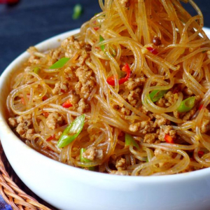Stir-Fried Minced Pork with Chinese Vermicelli