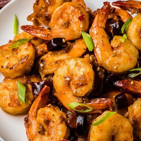 Stir-Fried Shrimp with Dried Chilli
