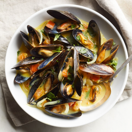 51. Stir-Fried Mussels