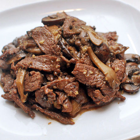 25. Beef with Mushrooms