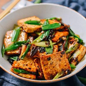 Tofu Black Bean Sauce and Vegetables Vegan