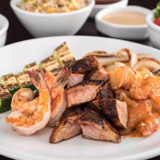 Grilled Pork and Shrimp