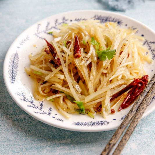 Spicy and Sour Potato Noodle