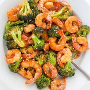 C3. Shrimp with Broccoli