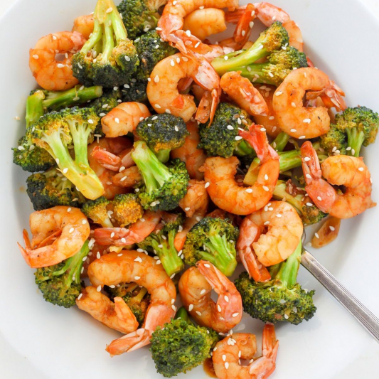 C3. Shrimp with Broccoli