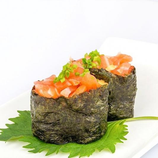B11. Spicy Salmon Sushi (2 pcs)