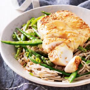 50. Baked Fish on Rice/Spaghetti