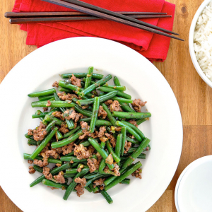 130. Fried String Beans with Spicy Minced Meat