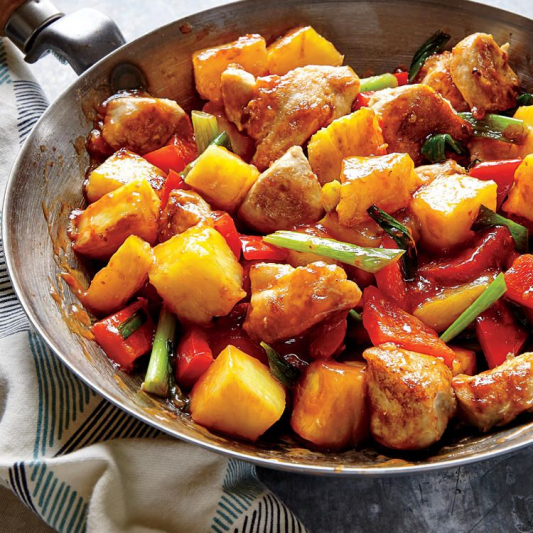 133. Sweet-and-Sour Chicken with Pineapple