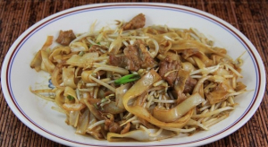 164A. Beef with Black Bean Sauce on Rice Noodle