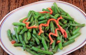 133. Spicy Szechuan Dry Green Beans