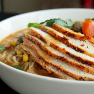 T25. Grilled Chicken with Noodle Soup