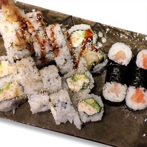 Sushi Combination with Miso Soup
