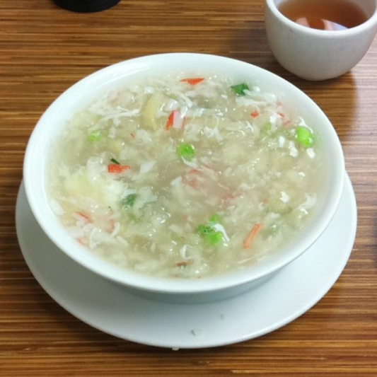 8. Crab Meat with Fish Maw Soup