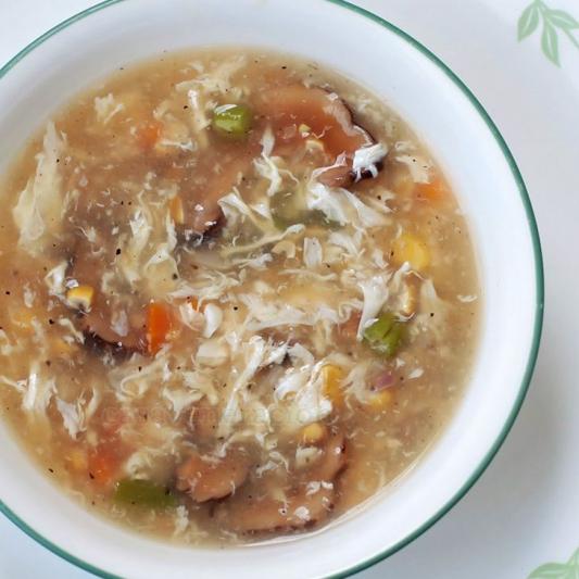 3. Mushroom Egg Drop Soup