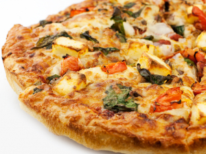 3. Spinach Paneer Pizza