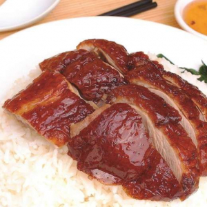 189. B.B.Q. Duck on Rice