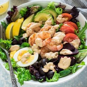 30. Prawns with Seasonal Vegetables