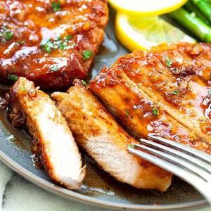 67. Honey & Garlic Pork Chops