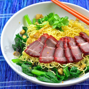 216. B.B.Q. Pork Mixed Noodle