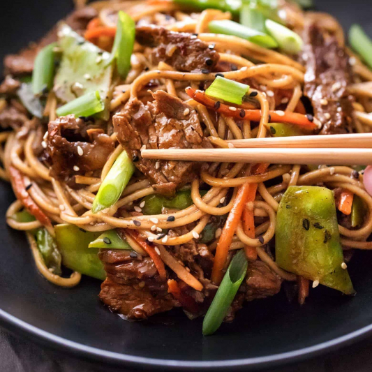 238. Three Kinds of Meat with Fried Rice Spaghetti