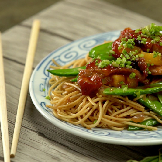 233. Fried Vermicelli with Sweet & Sour Shrimp & Pork