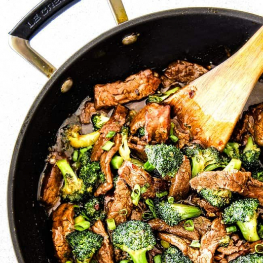76. Shredded Pork with Egg Tofu & Broccoli