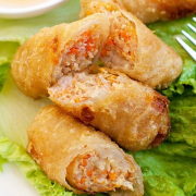 15. Deep-Fried Vietnamese Spring Rolls (3 pcs)