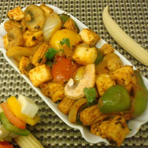 Sauteed Fungus, Chestnuts, and Baby Corn with Veggies - Chay Voi Nam Meo Hat De Bap Non Va Rau Cai