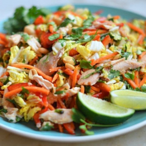 Shredded Chicken Salad with Shredded Veggies - Dia Thoung