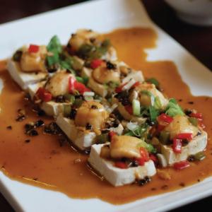 Scallop and Tofu with Black Bean Sauce - Thit So Dau Hu Hap Voi Dau