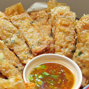 23. Pan-Fried Minced Shrimp in Bean Curd Roll