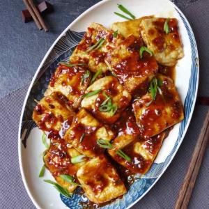 Sauteed Tofu with Olives and Dry Shredded Pork - Cam Lam Thit Bam Xao Dau Hu