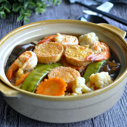 Steamed Tofu with Mixed Seafood - Do Bien Hap Voi Dau Hu