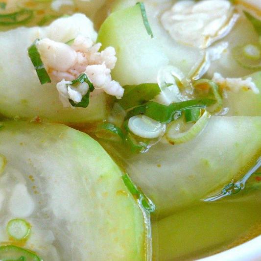 Whole Winter Melon Soup with Seafood - Sup Do Bien Bi Dao