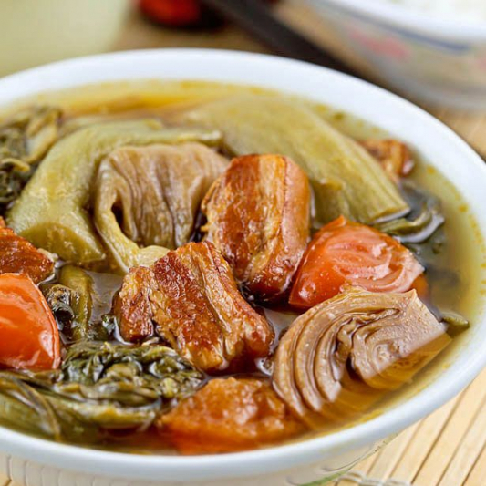 17. Chinese Greens with Pork