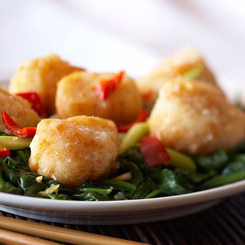 25A. Deep-Fried Scallops with Vegetables
