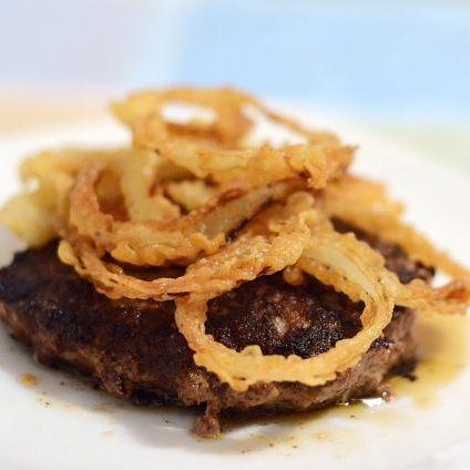 Hamburger Steak with Fried Onions