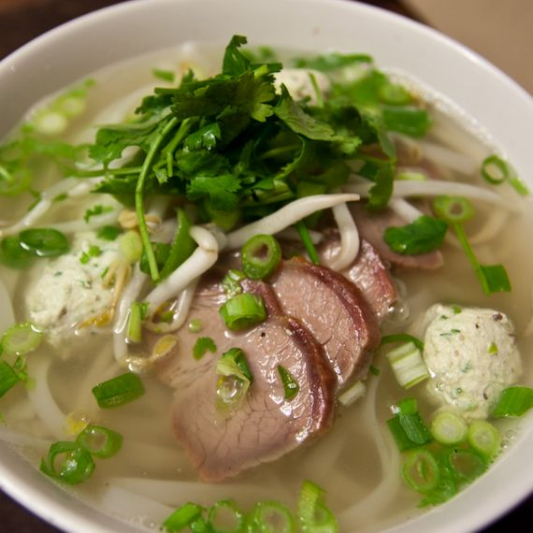 S8. BBQ Pork with Rice Noodle Soup