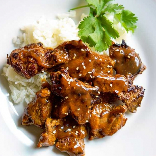 R15. Curry Beef Flank on Steamed Rice