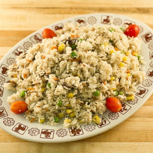Diced 2 Kinds Mushrooms & Sweet Corn Fried Rice
