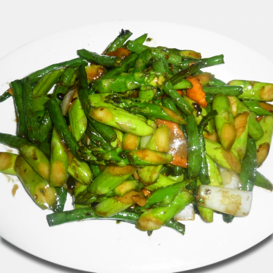 Sauteed Asparagus in Black Bean Sauce