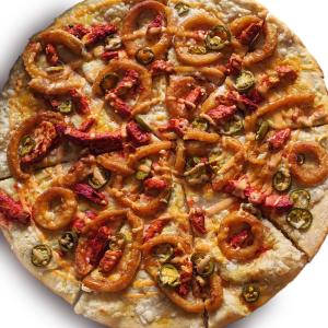 Vegan Onion Ring Pizza